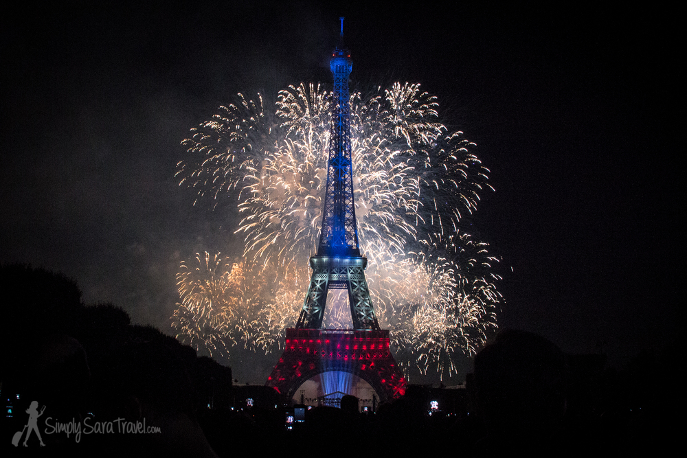 Bastille Day 2014 Eiffel Tower French flag colors