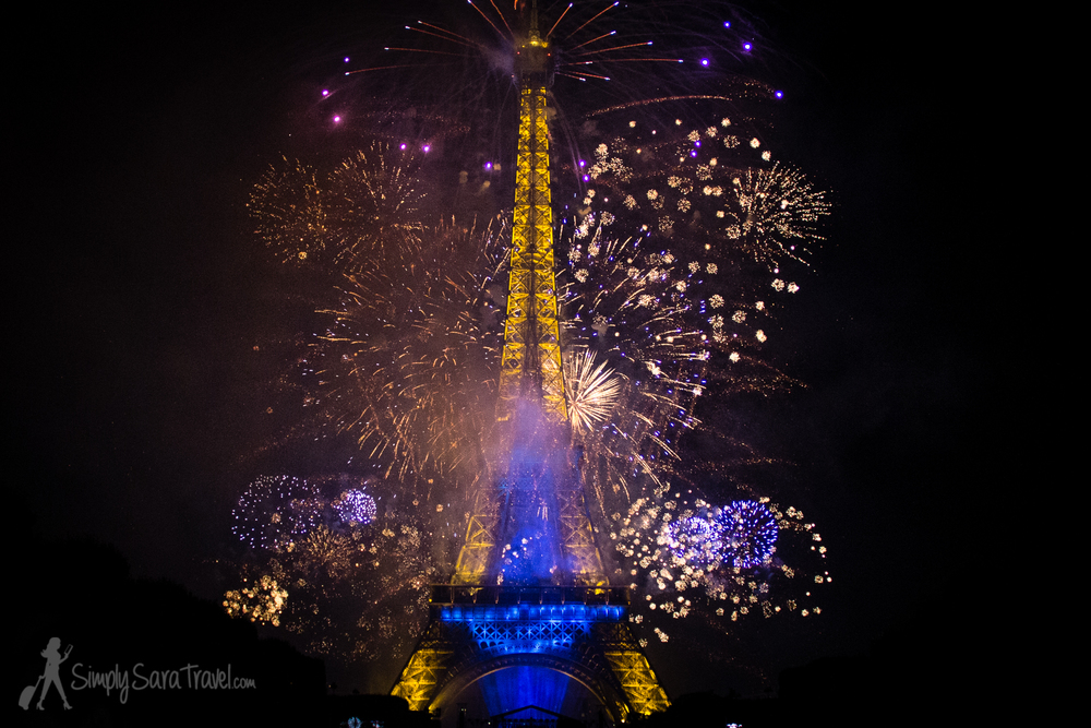 Bastille Day 2014 Eiffel Tower War and Peace fireworks show