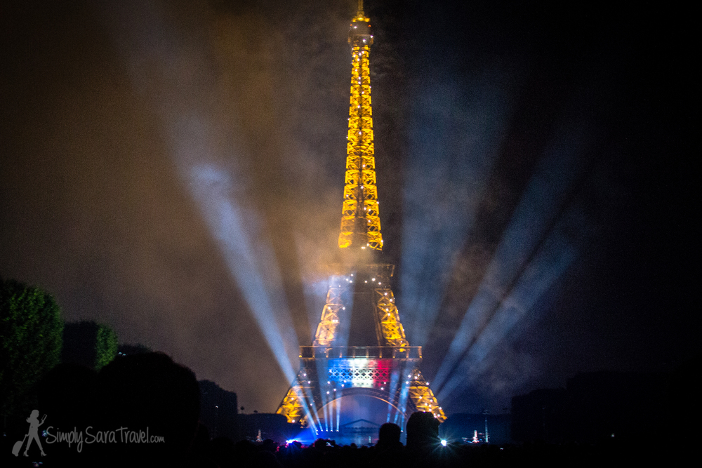 End of the Bastille Day 2014 Fireworks show