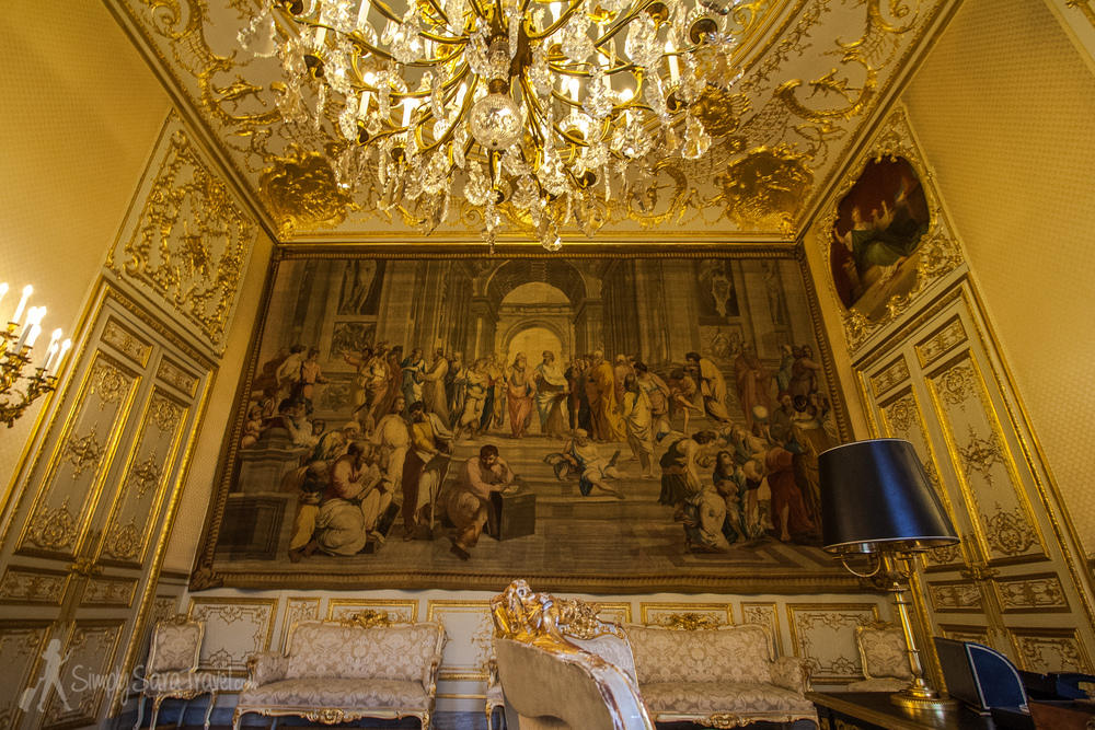 Room with tapestry (Raphael copy) at Hôtel de Lassay, Assemblée nationale, Paris