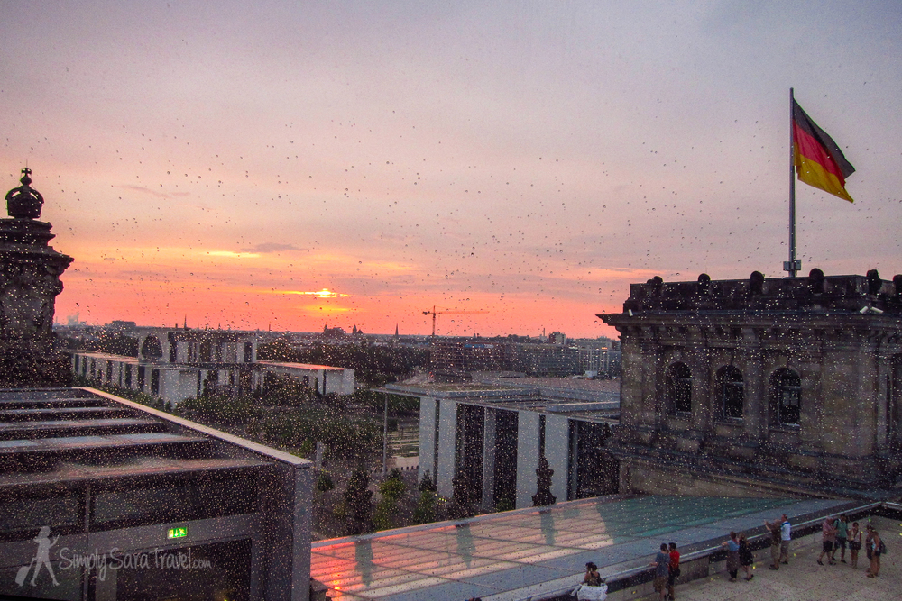Sunset from the Reichstag, Berlin, Germany