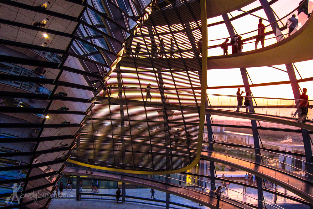 Sunset at Berlin's Reichstag