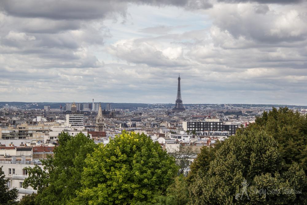 Eiffel Tower from Parc de Belleville