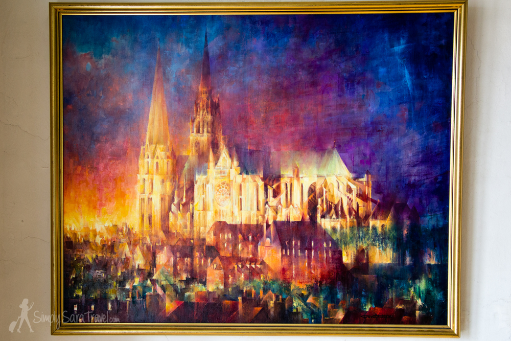 Painting of Chartres Cathedral at the Musée des Beaux-Arts