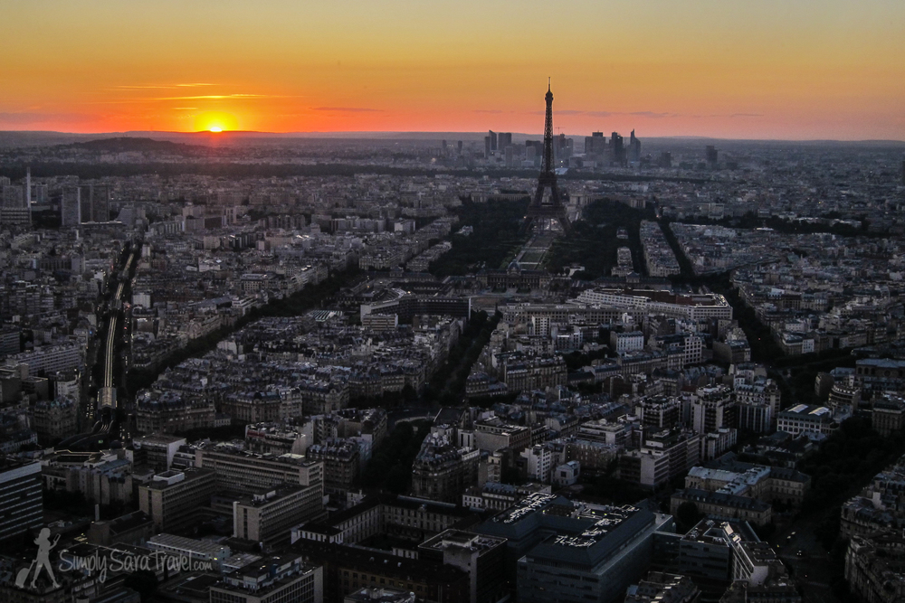 The view from Ciel de Paris, the restaurant in Tour Montparnasse