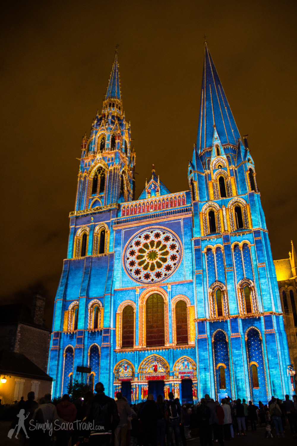 A blue Chartres Cathedral