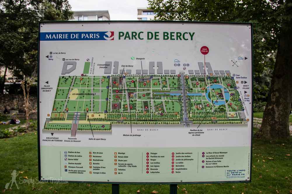 park it in paris parc de bercy simply sara travel. Black Bedroom Furniture Sets. Home Design Ideas