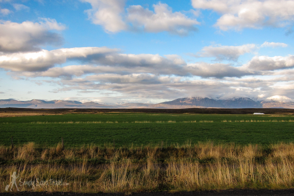 Icelandic fields and mountains