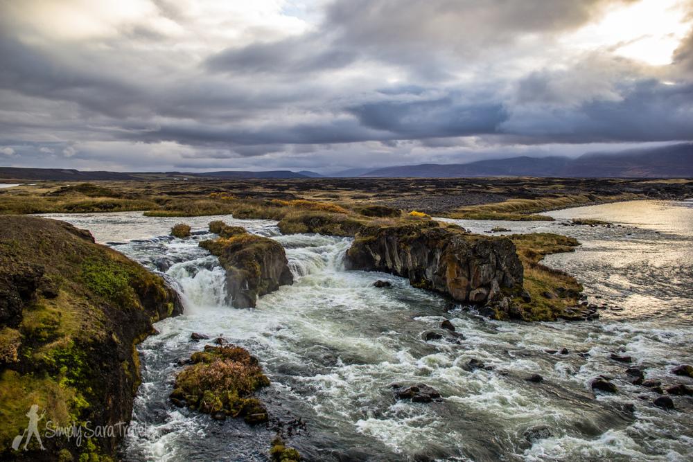 Æðafossar (Eider Falls) in northern Iceland