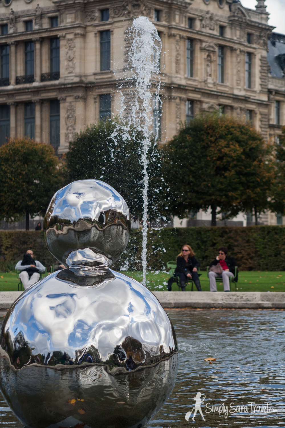 FIAC 2013 in Jardin des Tuileries, silver sculpture