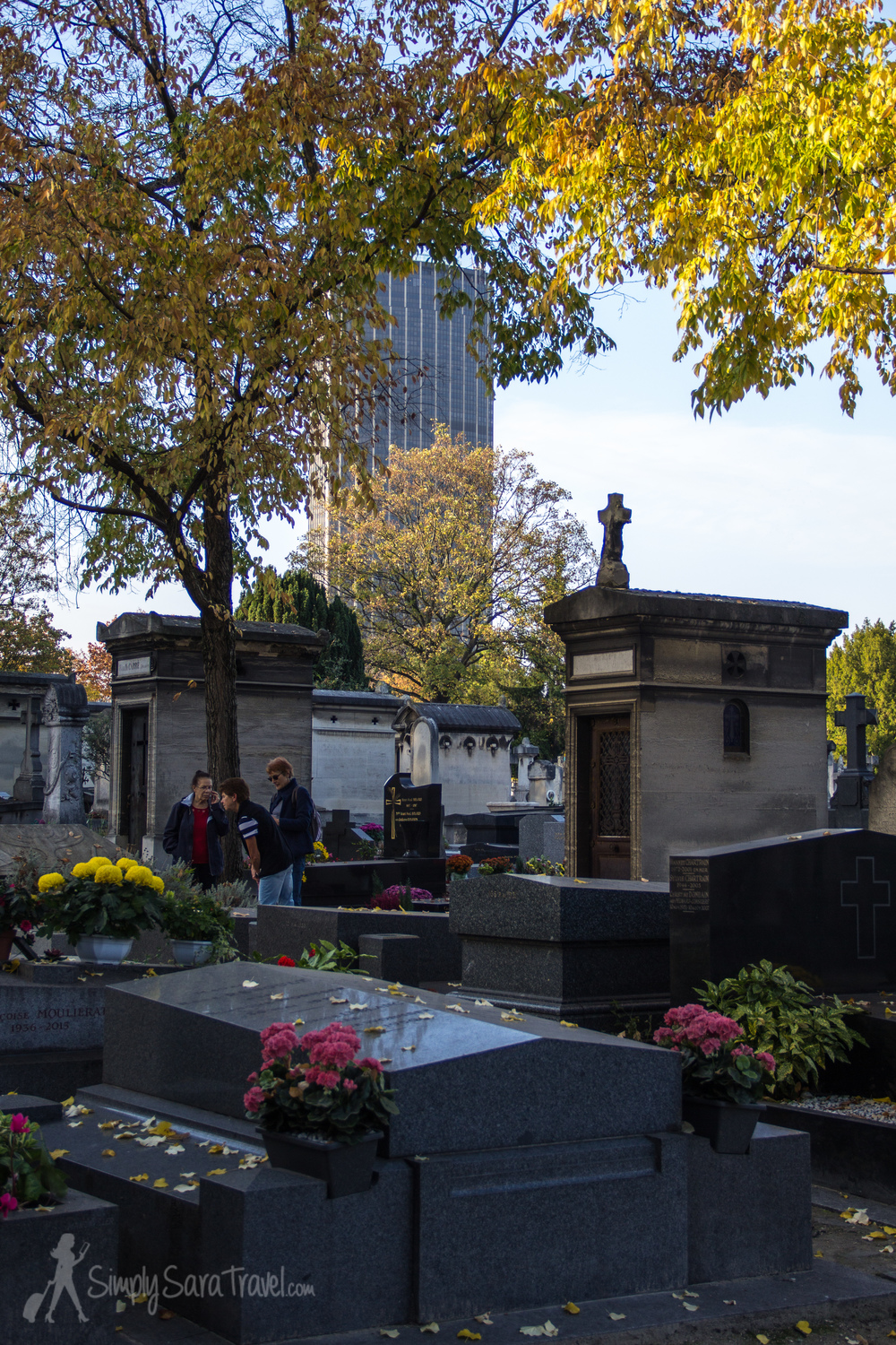 Tour Montparnasse towering in the background is a constant reminder of which cemetery you are visiting!