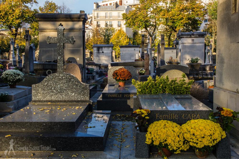 Cimetière du Montparnasse in November