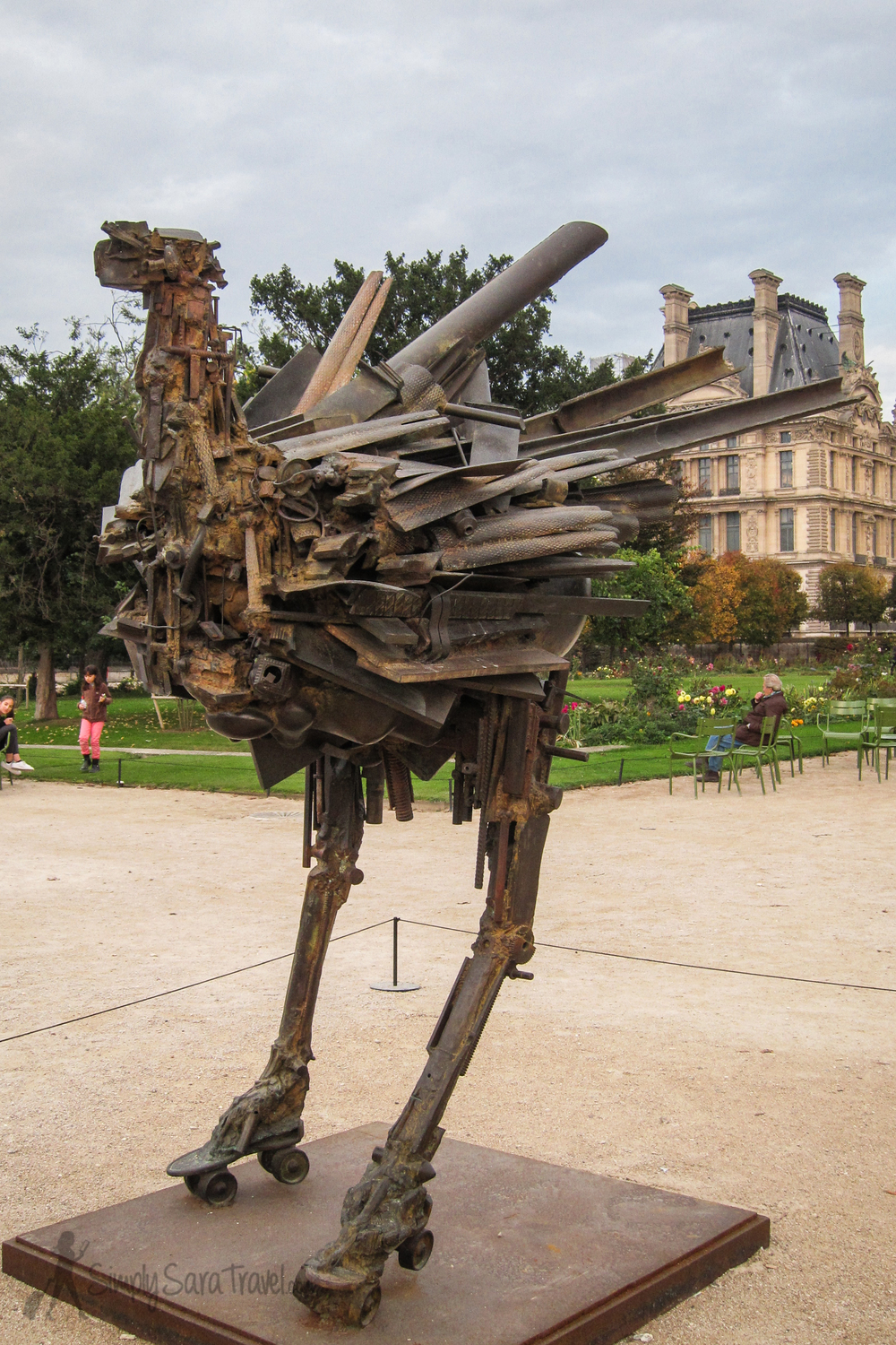 """Fanny Fanny,"" in the Jardin des Tuileries - by César, whose grave I visited this year during La Toussaint"