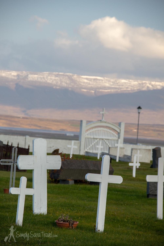 The cemetery inSauðárkrókur