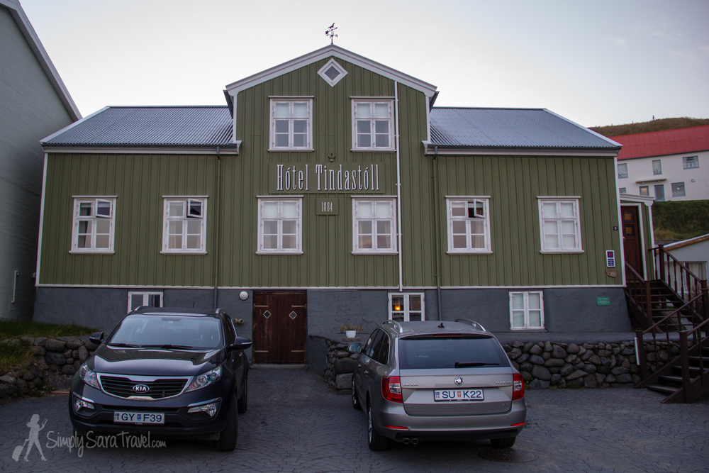 Our hotel, Hótel Tindastóll. This hotel  claims to be  the oldest in Iceland, opening its doors in 1884.
