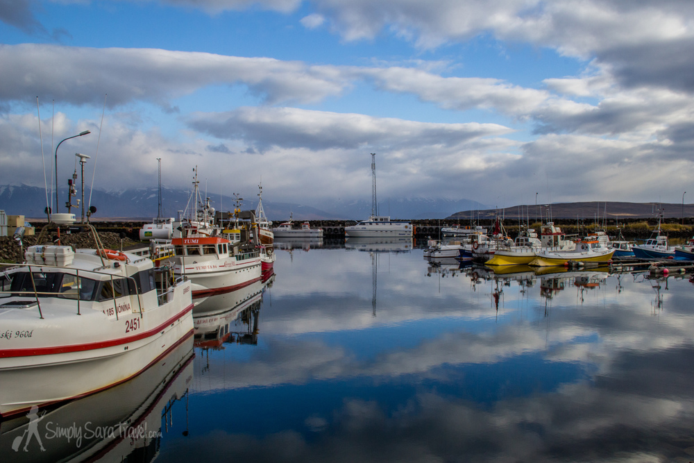 Harbor of Dalvik, Iceland