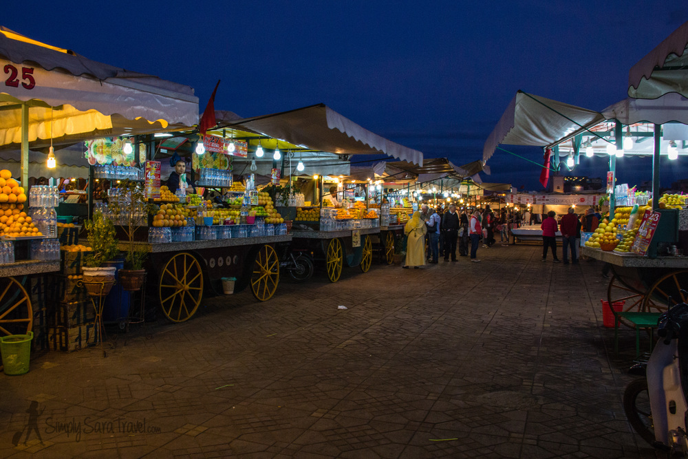 We went from this, the famous market square of Djema el-Fna in Marrakesh...