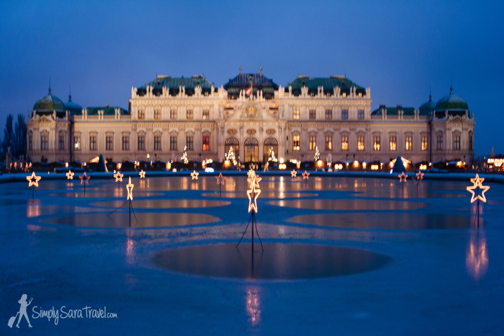 Belvedere Palace in Vienna is quite the sight during the Christmas season