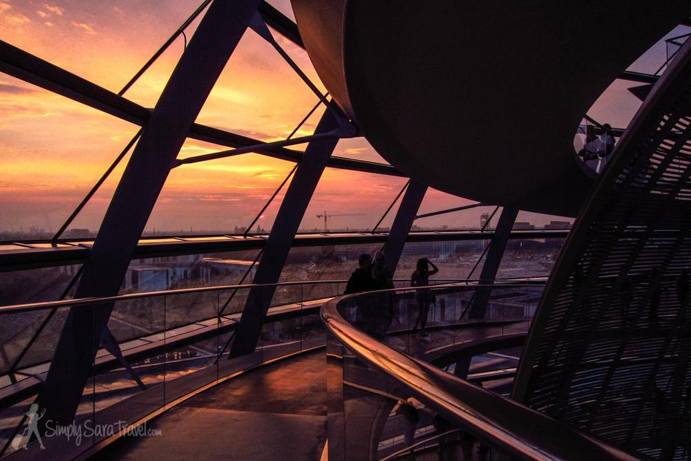 My favorite view of Berlin - sunset at the  Reichstag