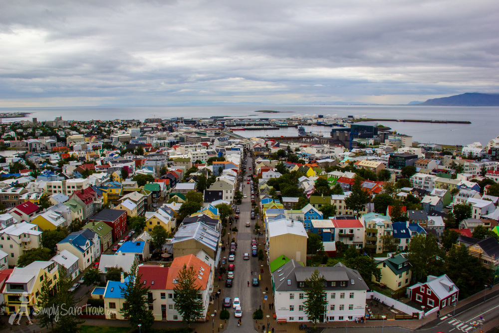 The view from the top of Hallgrímskirkja church