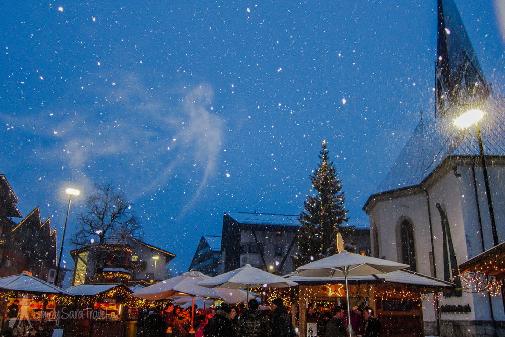 """This market should also win at the """"most likely to see snow"""" category - does it get more picturesque than this?!"""