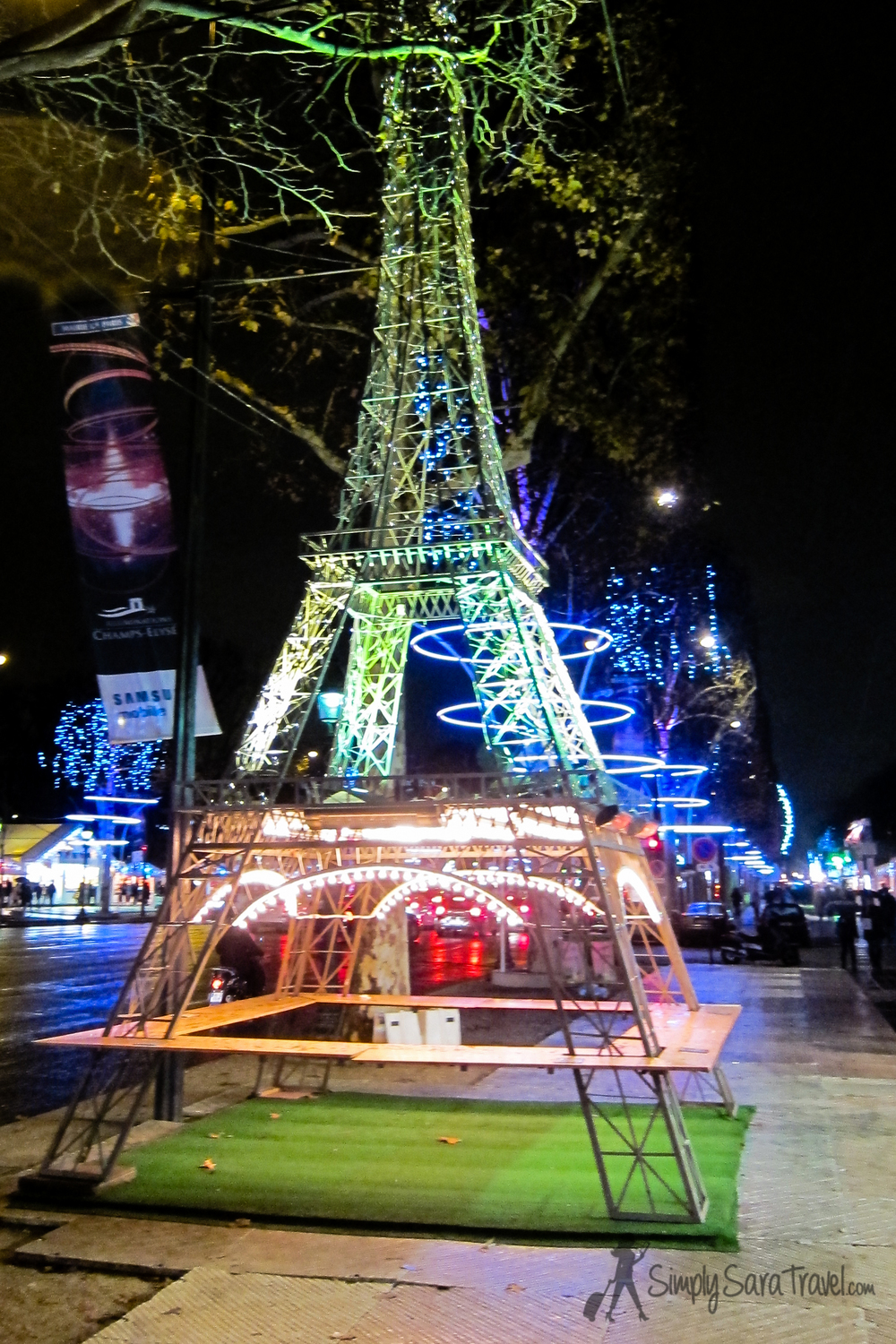 What the Christmas markets lack in Paris is made up for by the city's decorations and ice skating rinks (even an ice skating rink on the first level of the Eiffel Tower!)