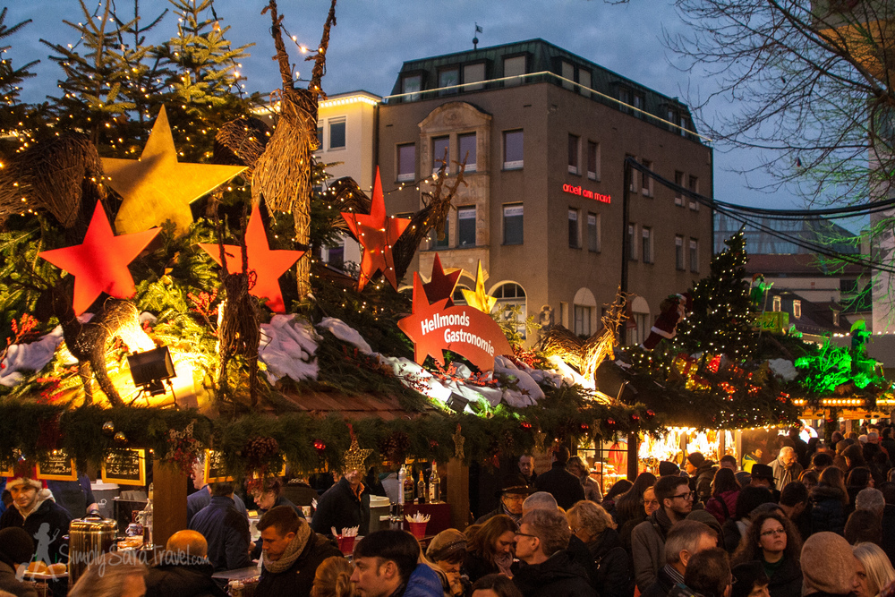 Stuttgart is another city that allows free reign on the Christmas market stand decorations,which were fantastic and earn an honorable mention.
