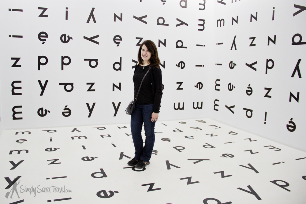 Sara in theMuseum of Contemporary Art [Muzeum Sztuki Współczesnej w Krakowie MOCAK] in Krakow