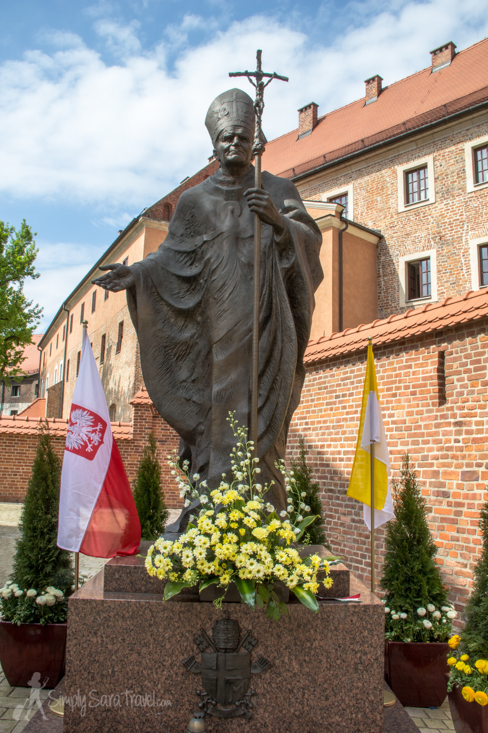 We happened to be in Krakow on the day Pope John Paul II was canonized by the Catholic Church. The late pope was certainly well-loved by the Polish people, but once we learned what significant event was occurring, it made more sense to us why we saw his face everywhere!