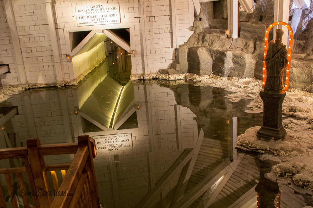 One of the lakes in the Wieliczka Salt Mine