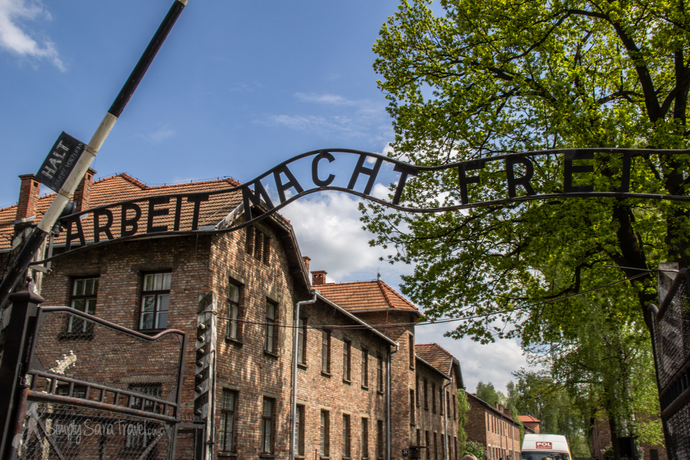 "The infamous sign at the entrance of Auschwitz claims  ""Arbeit Macht Frei""  (Work Will Set You Free)"