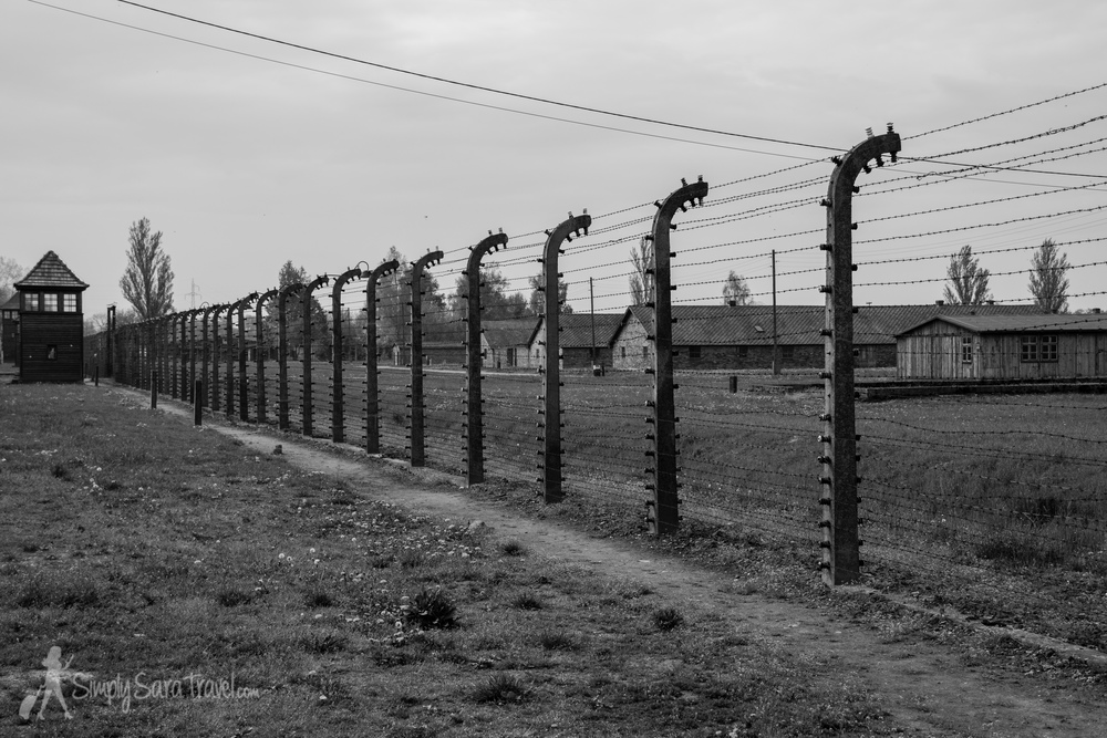 The grounds of Auschwitz II-Birkenau, the largest of the camps in the Auschwitz complex. An  estimated 90%  of the victims who were brought to Auschwitz died in this camp - about 1 million people.