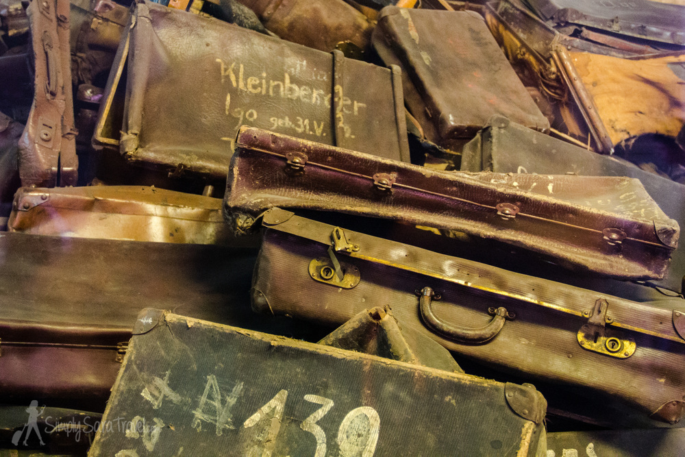 Suitcases of the Auschwitz prisoners and victims at the Auschwitz museum, Poland
