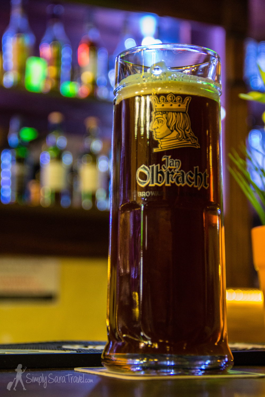 Dark gingerbread beer atJan Olbracht Browar Staromiejski inToruń
