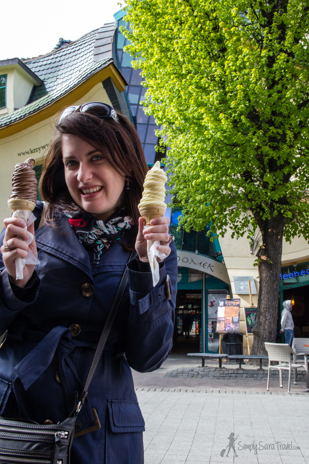 It may be chilly, but it's always time for some ice cream in Poland.