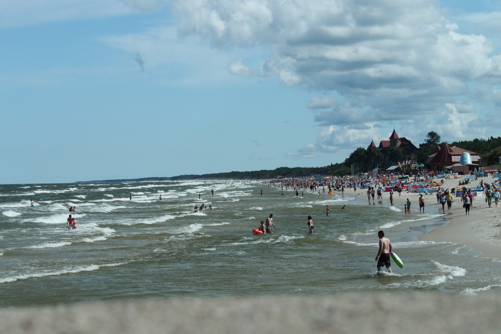 The beaches of Leba, Poland