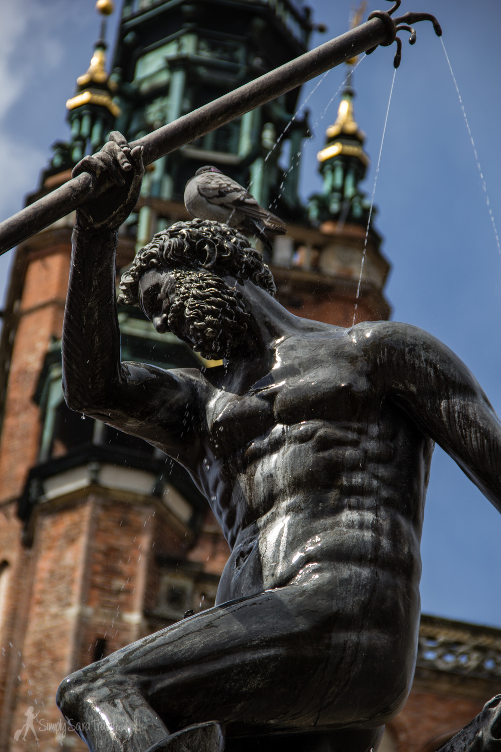 The Neptune Fountain, an appropriate figure for a maritime city.