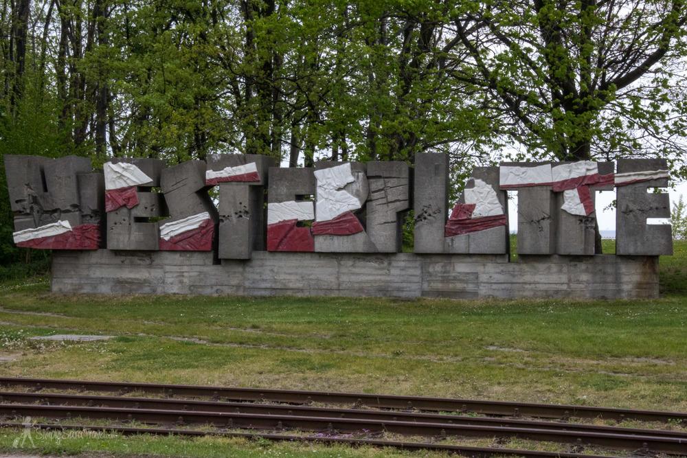 Westerplatte sign inGdańsk, Poland