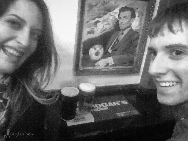 Pub time at the Harp - I have my limits of embarrassing my little bro, so please excuse the lower quality phone camera shot - I wasn't going to bring out the big guns for this photo :-)