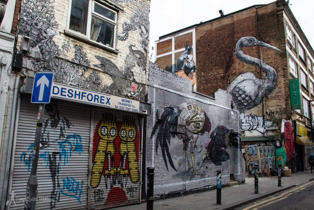 ROA crane street art, Shoreditch, London