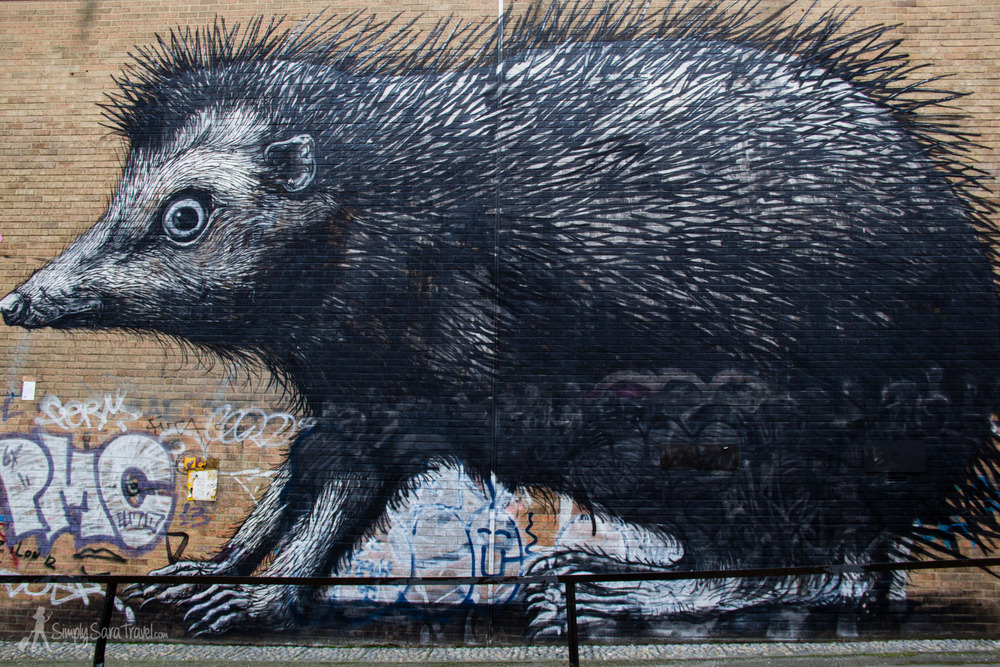 After the tour, I was able to easily spot ROA's signature around Shoreditch.