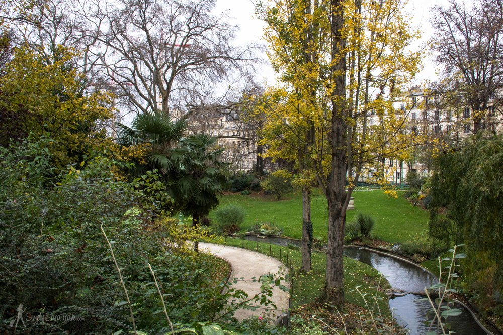Square des Batignolles, Paris, France in Deecember