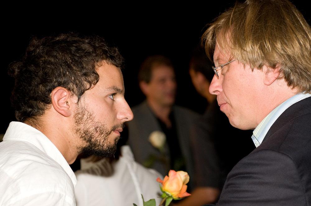 Avec le compositeur Gerog Friedrich Haas
