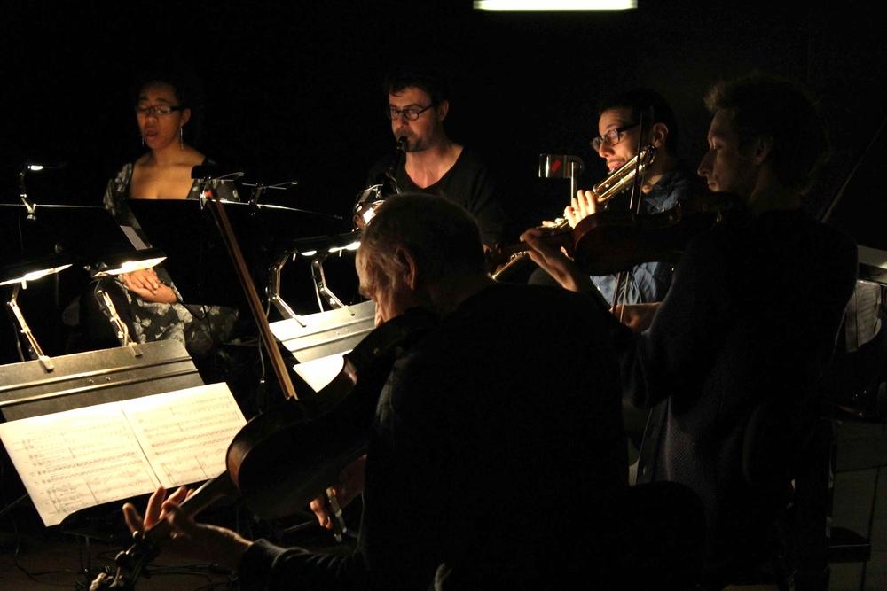 En concert avec l'Ensemble Contrechamps au MEG, Genève