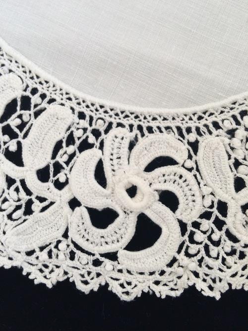 Antique Irish Crochet Lace Linen Doiley Sheelin Lace