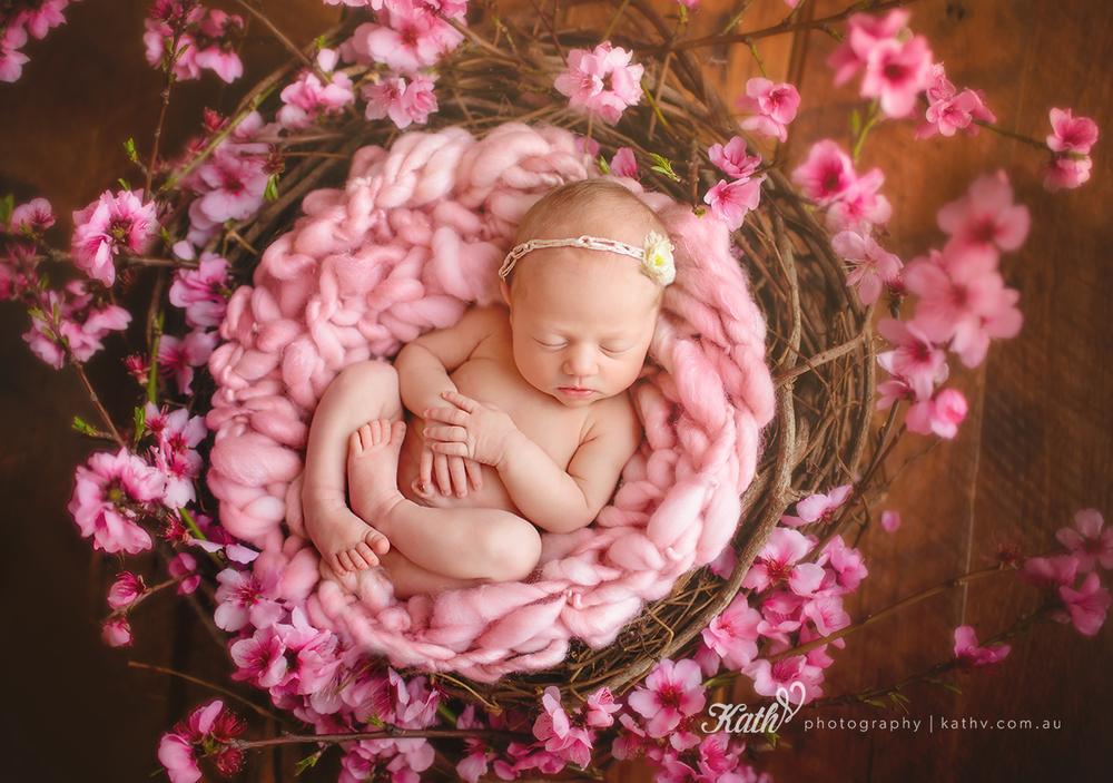 Macey as a newborn.
