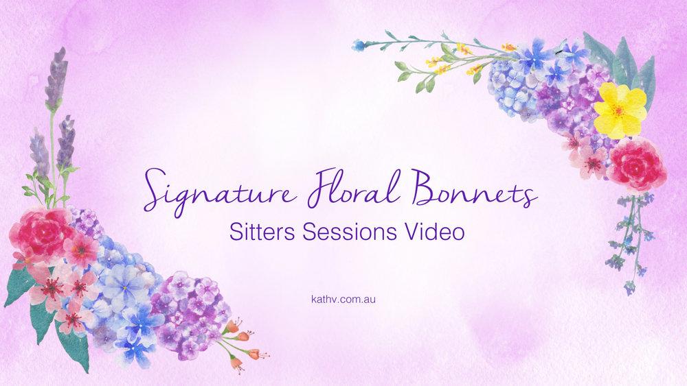 Signature Floral Bonnets