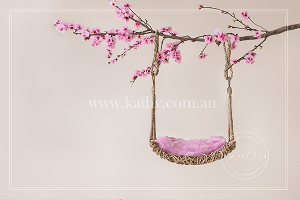 Baby on a Swing - Cherry Blossoms.jpg