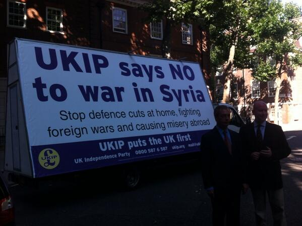 UKIP Says No To War In Syria