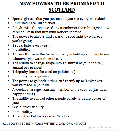 New Powers to Scotland